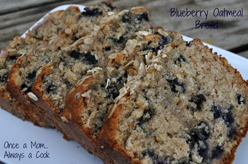 Super Moist and Delicious Blueberry Oatmeal Bread- great for breakfast