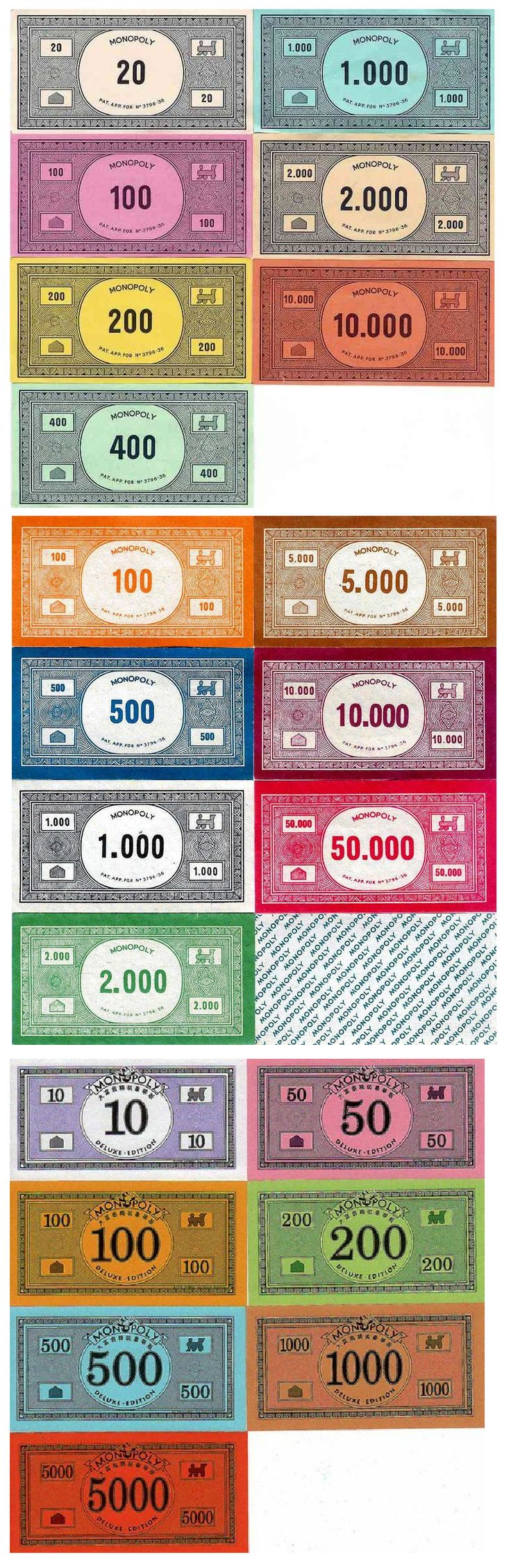 Printable Monopoly money