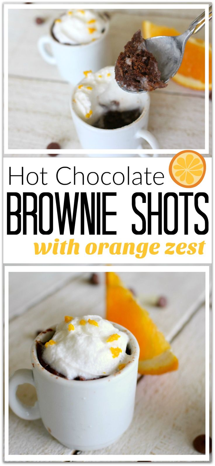What could be better than hot chocolate brownie shots? Don't you think the words hot chocolate and brownie should always go together? Add to that a hint of orange, and this dessert becomes heavenly.