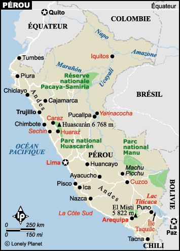 Carte Pérou : plan des sites incontournables | Lonely Planet
