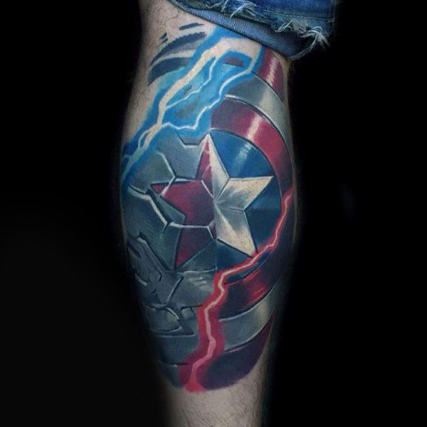 Top 70 Best Shield Tattoo Design Ideas For Men: Best 25+ Captain America Tattoo Ideas On Pinterest