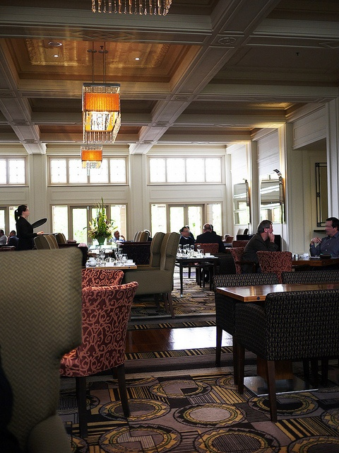 Tea Lounge at the Hyatt Hotel, Canberra, an art deco palace