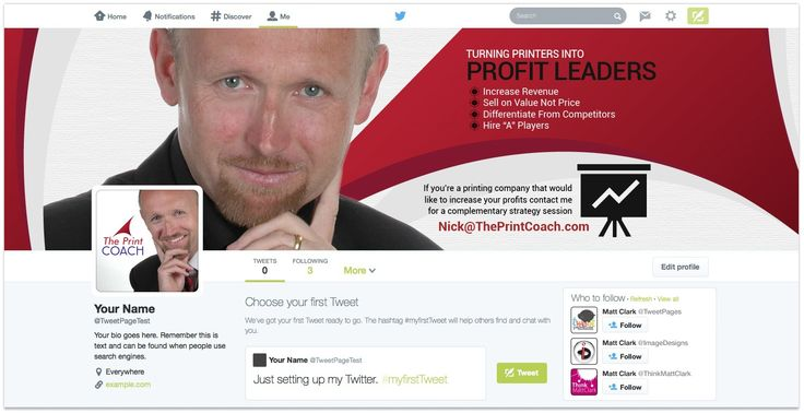 The Print Coach Custom Facebook Cover Design - by TweetPages.com #TweetPages