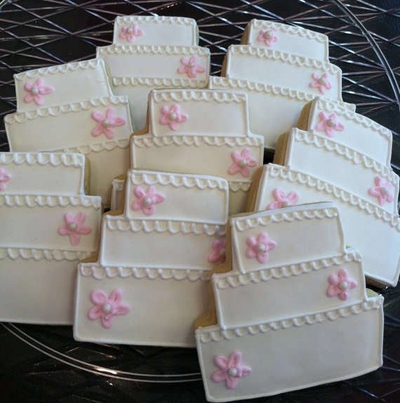 Items Similar To Wedding Cake Sugar Cookies On Etsy