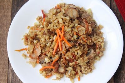 "Fried ""Rice"" (Low Carb and Paleo) 