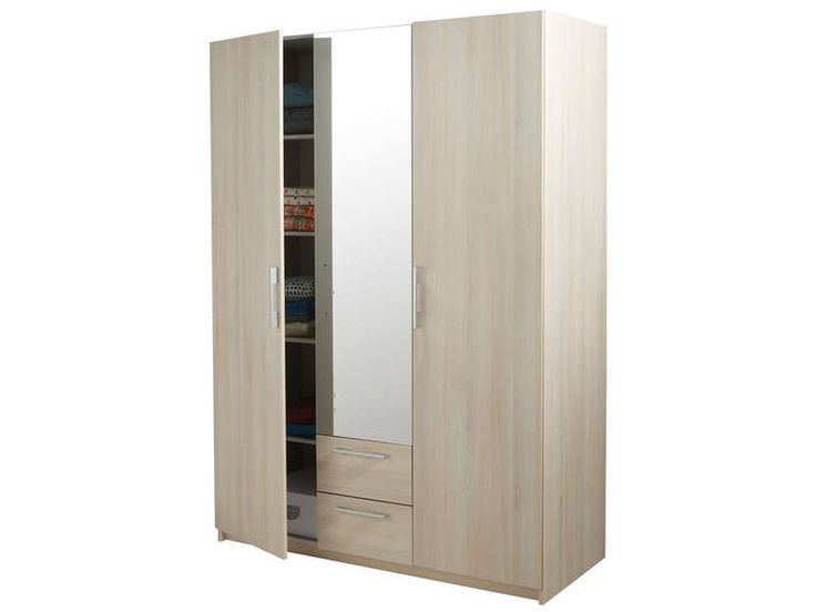 78 ideas about armoire pas cher on pinterest armoire for Armoire bois conforama