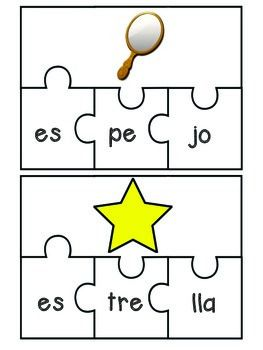 LETRA E PUZZLES by Marina's Little People | Teachers Pay Teachers