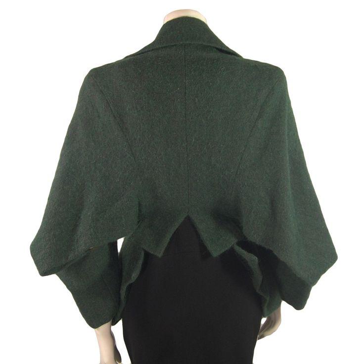 Yohji Yamamoto hybrid jacket, autumn-winter 1996, combines elements of a Japanese kimono, an Edwardian riding jacket and a cropped cape / palette london