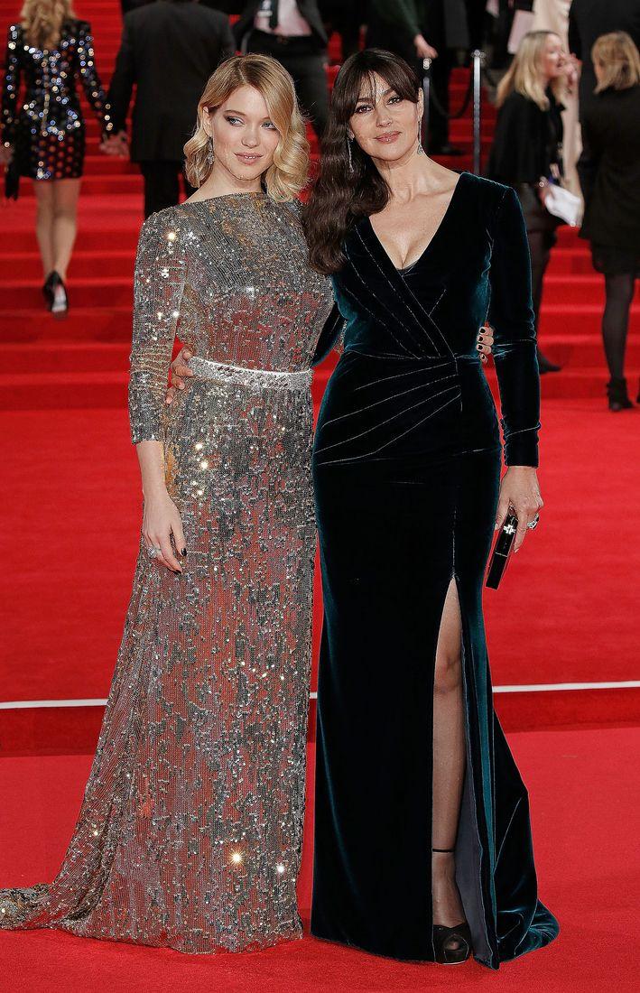 Королевская семья и звезды на премьере «007: Спектр» в Лондоне : Леа Сейду, Дэниел Крэйг и Моника Беллуччи / фото 2