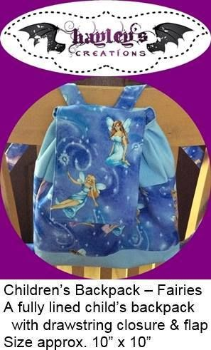 Handmade by Hayley's Creations Children's Backpack – Fairies