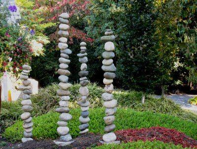 Gartenstecker aus Steinen