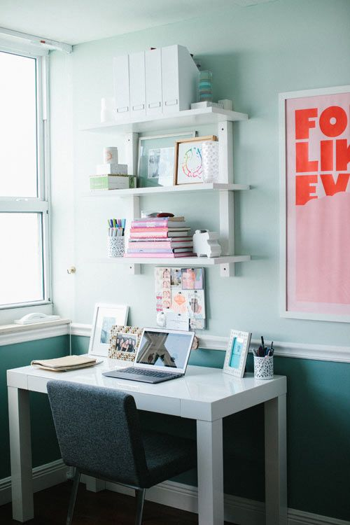 My ideal workplace at home - Where I Work: Sarah Lederman of Chevron & Stripes