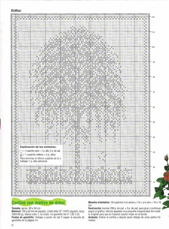 h keln fileth keln gardine baum crochet curtain tree. Black Bedroom Furniture Sets. Home Design Ideas
