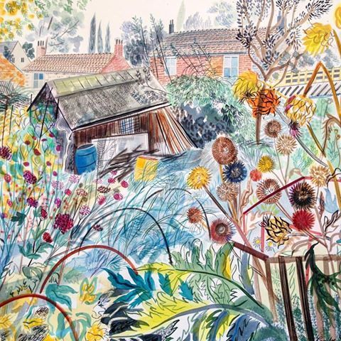 'Autumn Allotments' by Emily Sutton