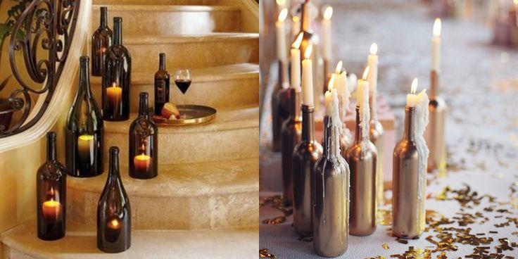 8x creatief met wijnflessen in huis