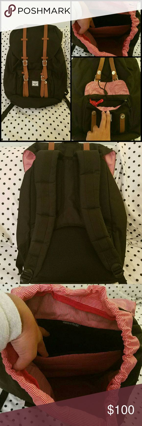 Herschel Backpack Used once to travel. In great condition, only has creasing due to storage.  Price Firm.  Sorry no trades, holds over 24 hours, and payments outside of Poshmark. Herschel Supply Company Bags Backpacks