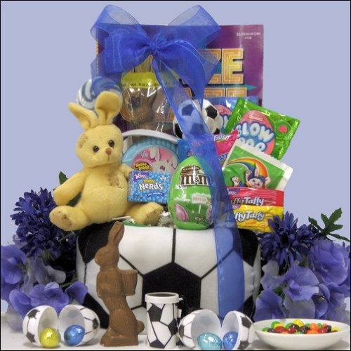 76 best gift ideas images on pinterest basket ideas gift basket egg streme soccer easter gift basket for boys ages 6 to 9 years negle Image collections