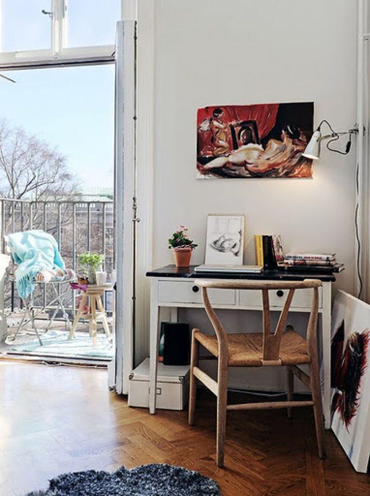 ワークスペース,書斎,机,テラス,雰囲気,コンパクト