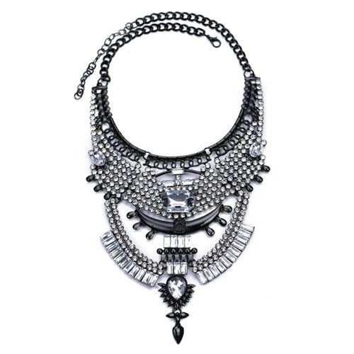 Fashion Collares Women Gros Collier Femme 2016 ZA Necklaces Pendants Choker Vintage Gun Black Kolye Maxi Crystal Statement Tag a friend who would love this! Get it here