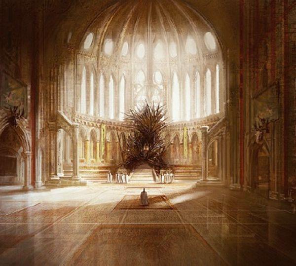 Game of Thrones : Le véritable trône de fer de Georges R. R. Martin. Beaucoup plus impressionnant que celui de la série !