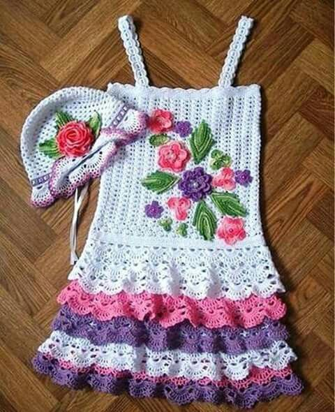 No english pattern. Could  adapt for a beautiful doll dress.