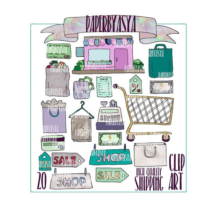 Shopping Clipart, groceries clipart, money clpart, shopping truck clipart, kawaii clipart, gltter clipart, credt card clipart, shop clipart by paperbyasya on Etsy https://www.etsy.com/listing/481359126/shopping-clipart-groceries-clipart-money
