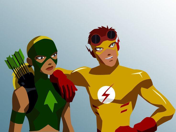 Kid Flash and Artemis Vector by growabrain.deviantart.com ...