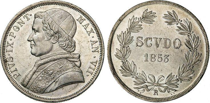 NumisBids: Numismatica Varesi s.a.s. Auction 65, Lot 850 : PIO IX (1846-1878) Scudo 1853 VII, Roma. Pag. 394 Ag • Di...