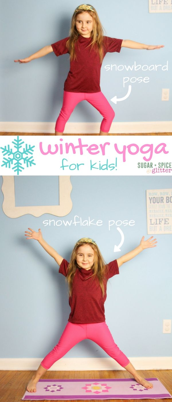 An easy kids' yoga sequence inspired by winter - using a bit of imagination,...
