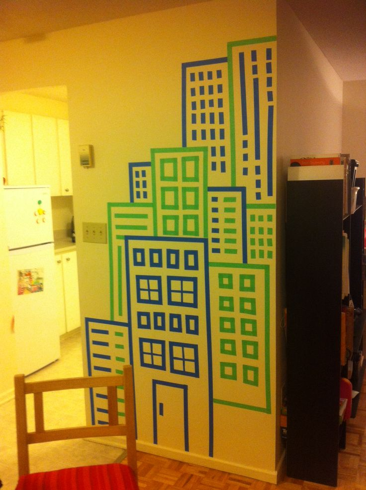 Masking Tape Wall decoration. Everybody can do it!