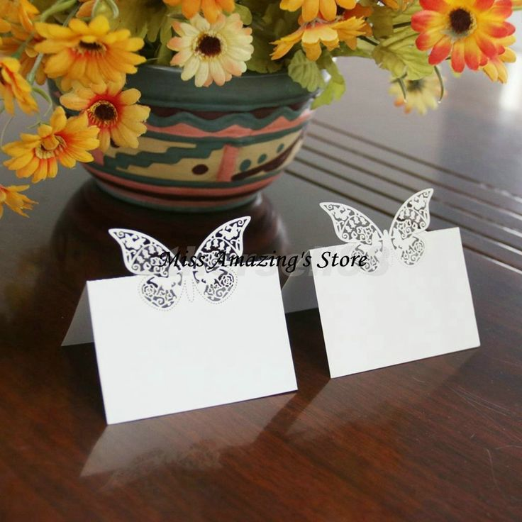 50x Butterfly Wedding Birthday Meeting Meal Table Place Setting Name Number Cards Party Decorations Favors #Affiliate