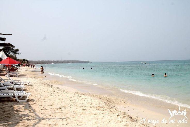 Cuando las #playas parecen de otro planeta por sus tonos celestes...es muy probable que estés en el #Caribe #Mar #Playa #Beach #Beaches #Playas #Cartagena #CartagenaDeIndias #PlayaBlanca #Colombia