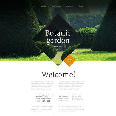 Garden Design Parallax Plantilla Web Captura de Pantalla Pequeña