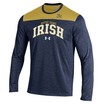 Under Armour Foundation long sleeve tshirt in black & vegas gold. Arched  Spartans over Spartan head. Adult sizes S -