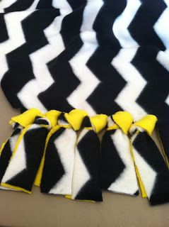 fleece blanket DIY.  Need to try this knot the next one I make.