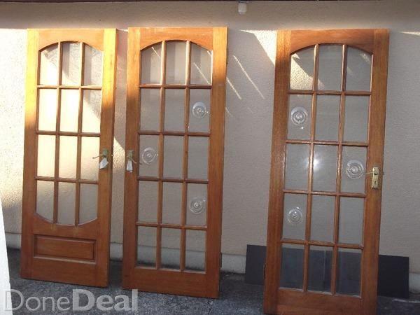 Hardwood doors x3