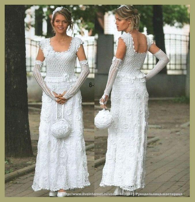 Озорные петельки: Свадебные: платье,сумочка,перчатки,ободок