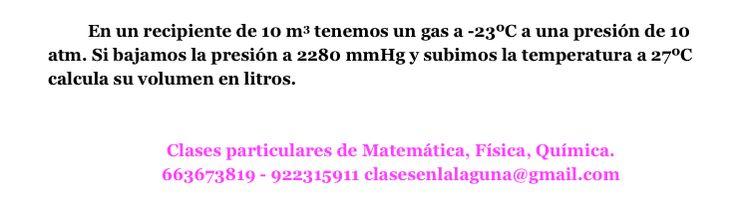 Ejercicio Gases, química