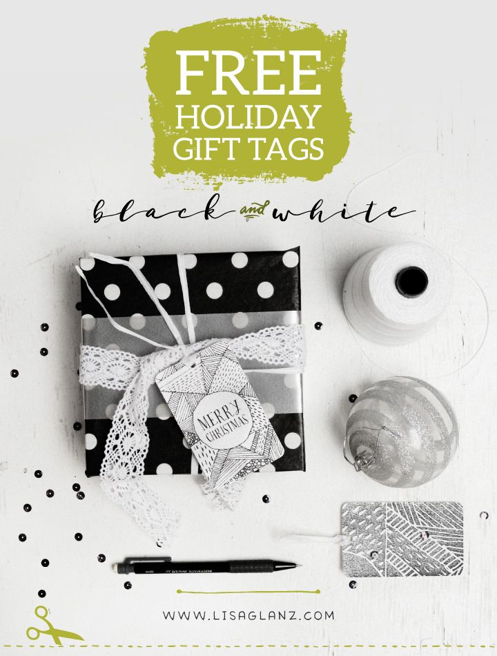 Holiday gift tags giveaway - Lisa Glanz