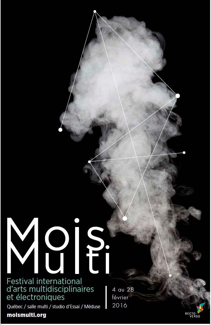 Prototype d'affiche pour le festival Mois Multi.