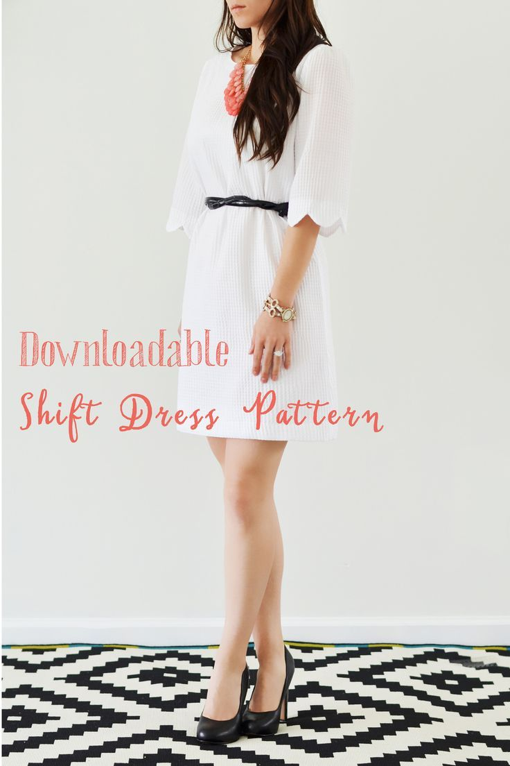 Downloadable Shift Dress Pattern and tutorial \\ Easy to sew and so stylish! And FREE.