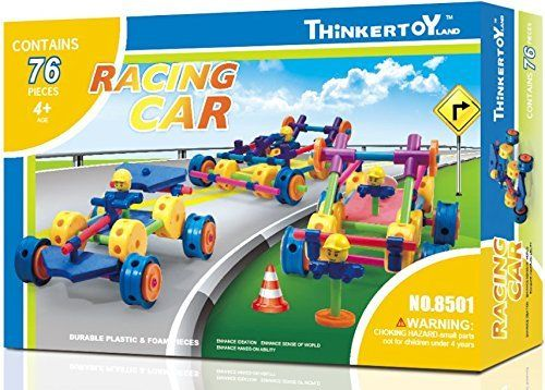 ThinkerToy Gears Power  Racing Car 76 Piece Construction Gear Set