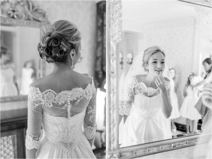 Gorgeous lace detail on wedding dress