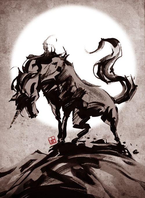 The Last Unicorn by ~zamzami on deviantART