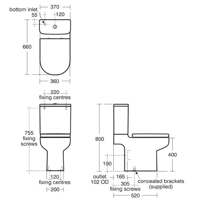 Standard Toilet Dimensions   Google Search