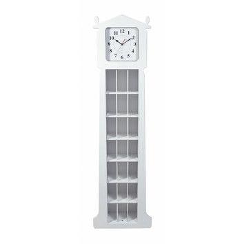 "Gift Mark Gift Mark 62"" Floor Clock with CD Organizer"