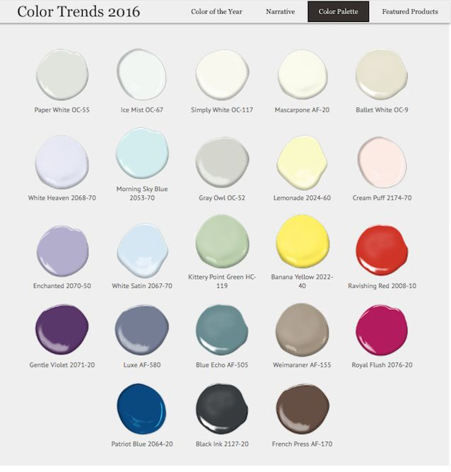 benjamin moore color trends 2016 colors of the year benjamin moore colors paint colors. Black Bedroom Furniture Sets. Home Design Ideas