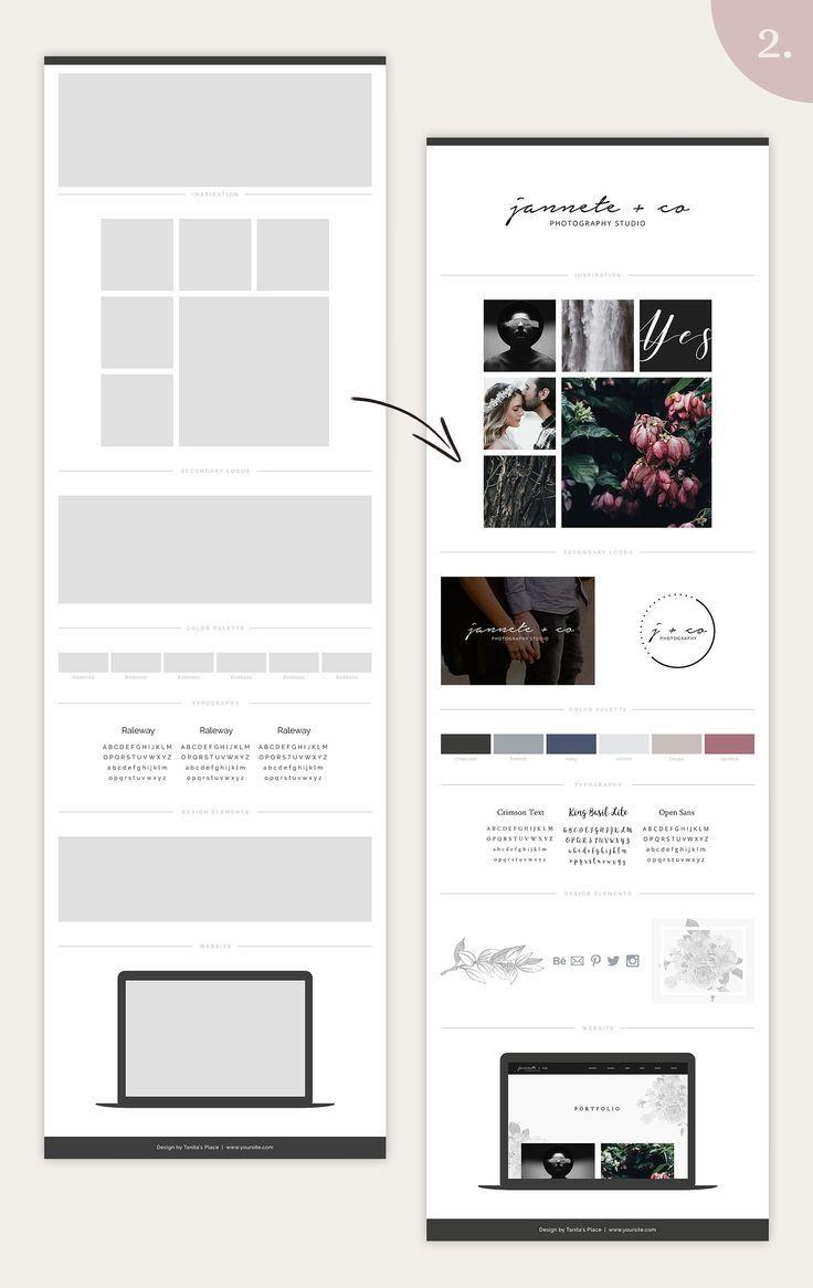 Mood Board Template Bundle Vol 1 Mood Board Template Brand Board Template Web Design Inspiration