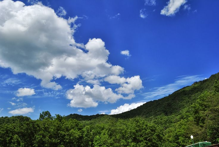 Blue Skies at Doe River Gorge by: Anna Hurt