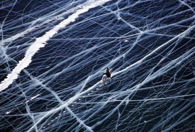 Le lac Baïkal , dans le sud de la Sibérie , en Russie